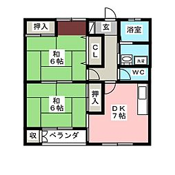 コーポOZAWA[1階]の間取り