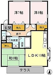 ボナール2[1階]の間取り