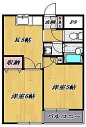 フェニックス鷺沼[103号室号室]の間取り