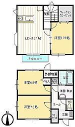 Eハウス新屋敷[A号室号室]の間取り