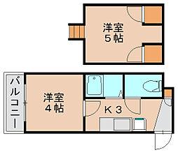 山田屋ビル箱崎[4階]の間取り