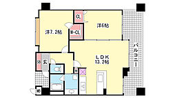 KAISEI新神戸第2EAST[6階]の間取り