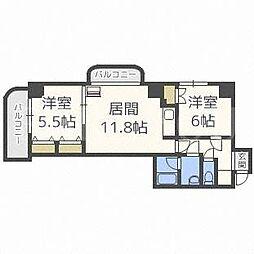 北海道札幌市中央区南五条西22丁目の賃貸マンションの間取り