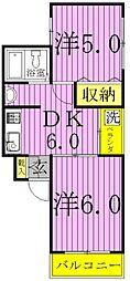 K-HOUSE[2階]の間取り