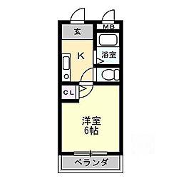 片岡マンション[3階]の間取り
