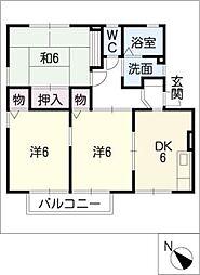 シャテーニュ平松[2階]の間取り