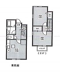 東京都大田区田園調布5丁目の賃貸アパートの間取り