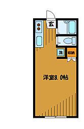 東京都国分寺市東恋ケ窪の賃貸マンションの間取り
