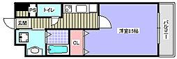福岡県北九州市八幡西区陣原3丁目の賃貸マンションの間取り