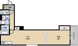 クリエオーレ焼野[1階]の間取り