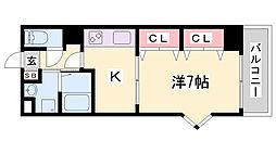 タカマツ神戸駅南通[9階]の間取り