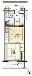 フロール川崎古市場[1-406号室]の間取り