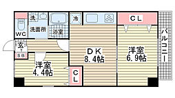 オーク松本通[303号室]の間取り