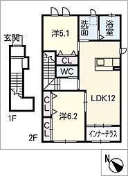 サザンアーブル[2階]の間取り