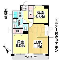 愛知県名古屋市天白区元植田1の賃貸マンションの間取り