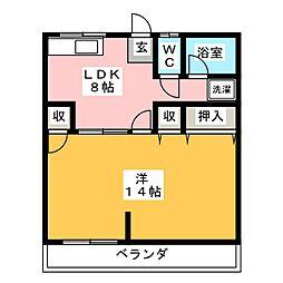 菅原マンション[2階]の間取り