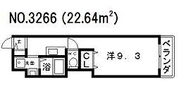 プライムタワー阿倍野40[6階]の間取り