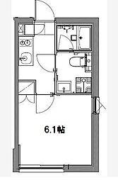 京急空港線 大鳥居駅 徒歩2分の賃貸マンション 4階1Kの間取り
