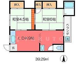 ハウス33[2階]の間取り