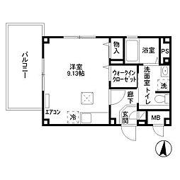 東京都江東区古石場3丁目の賃貸マンションの間取り