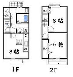 フォレストヒル B[115号室]の間取り