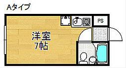 マンションアイリス[1階]の間取り