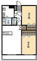 布施マンション2[206号室]の間取り