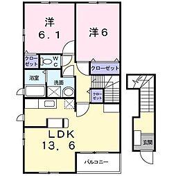 メルティー・アイⅡ B[2階]の間取り