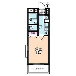 ヴィレッジ・イン・上高井戸[2階]の間取り
