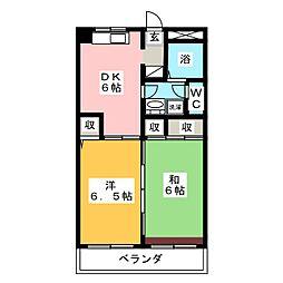 ハローハイツ[2階]の間取り