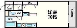 ベルハイム江坂[1階]の間取り