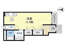 ルーナフロール[1階]の間取り