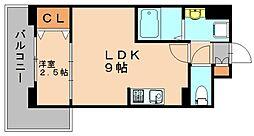 ヴィラージュ博多駅南[8階]の間取り