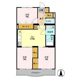 プラムマンション[2階]の間取り