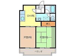 静岡県富士市天間の賃貸マンションの間取り