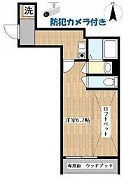 小田急小田原線 世田谷代田駅 徒歩6分の賃貸アパート 1階1Kの間取り