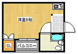 フォンタルT2[2階]の間取り