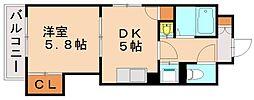キトミ壱番館[2階]の間取り