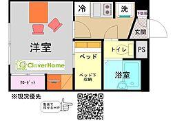 小田急小田原線 鶴川駅 バス15分 藤の台東下車 徒歩8分の賃貸アパート 2階1Kの間取り