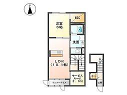 本庄市A様アパート新築[201号室号室]の間取り