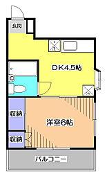 東京都小平市小川西町3丁目の賃貸マンションの間取り