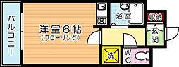 シャルム小倉中津口[508号室]の間取り