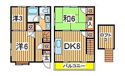 [テラスハウス] 千葉県我孫子市並木5丁目 の賃貸【/】の間取り