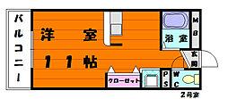 福岡県福岡市東区松崎2丁目の賃貸マンションの間取り