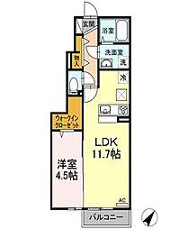 仮)D-room松江上東川津町[101・107号室]の間取り