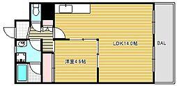 ブロード西長堀[2階]の間取り