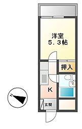 モンパレスII[2階]の間取り