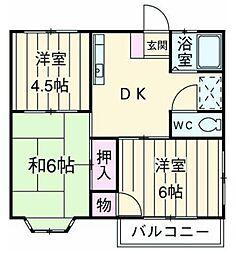 ルミエール湘南ステージ 4[2階]の間取り