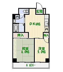 東京都葛飾区白鳥3丁目の賃貸マンションの間取り
