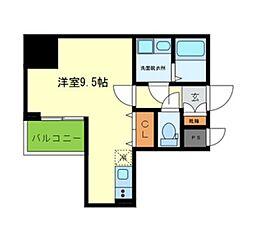 Y&Rino Residence 10階ワンルームの間取り